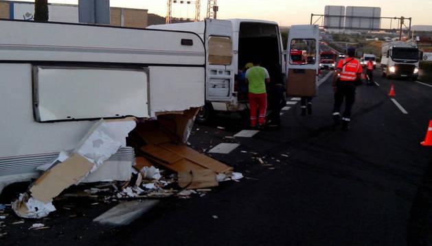 Dos heridas en Tudela por un conductor que ha dado positivo en drogas