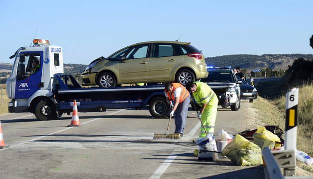 Tres muertos y un herido en el choque entre dos turismos en Burgos