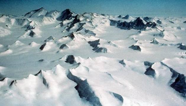 Montañas de la Antártida.
