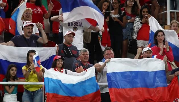 Aficionados rusos en los Juegos Olímpicos de Río.