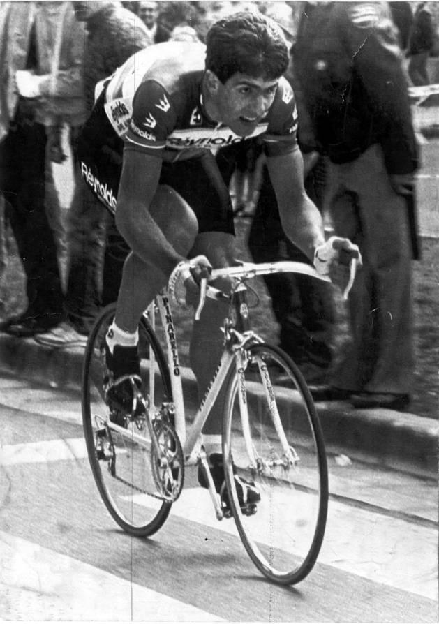 Miguel Induráin, en la Vuelta a España de 1985.