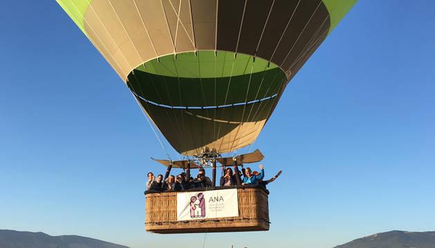El viaje en globo organizado por la Asociación Navarra de Autismo.
