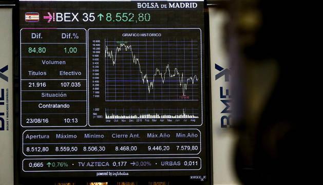 Una imagen de la Bolsa de Madrid.