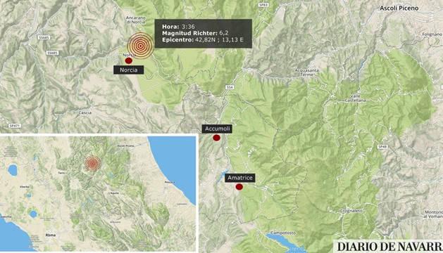 Al menos 38 muertos y decenas de desaparecidos en un terremoto en el centro de Italia