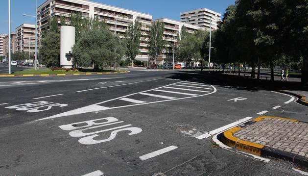La plaza Juan XXIII, uno de los lugares que se asfaltarán.