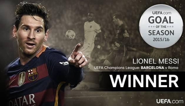 Messi, autor del gol del año para la UEFA.