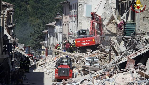 Operación de rescate en Amatrice
