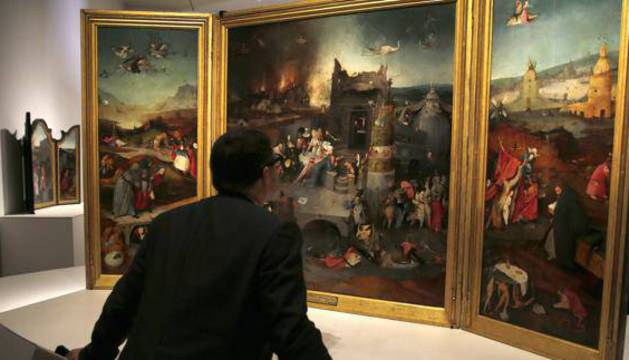 Exposición de El Bosco en el Museo del Prado, Madrid.