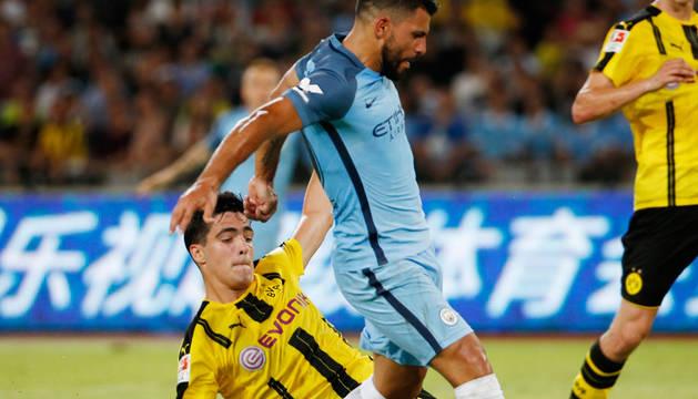 Mikel Merino, con la camiseta del Dortmund.