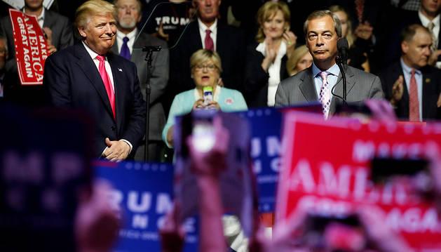Donald Trump, en un acto de su campaña poítica.