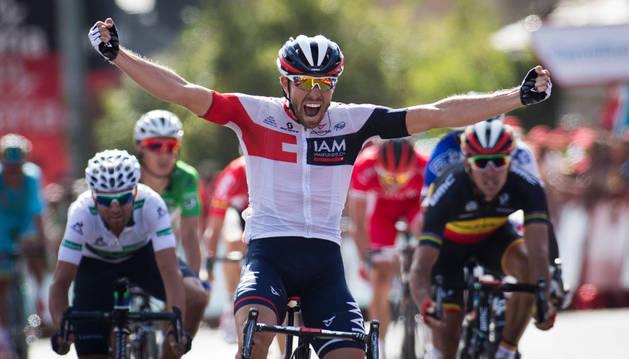 El belga Jonas Van Genechten se proclama campeón de la séptima etapa de la Vuelta Ciclista a España 2016.