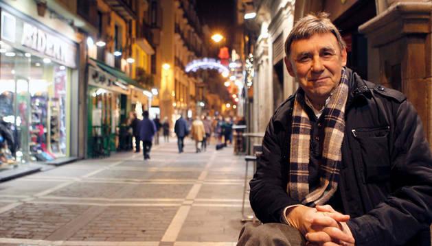 Joaquín Carbonell, en Pamplona.