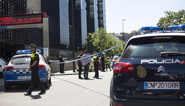 Operación policial en Zaragoza.