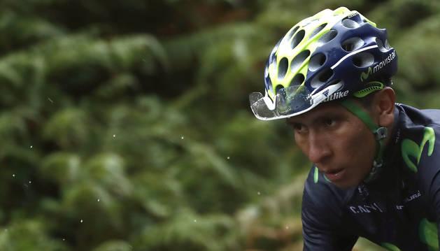 Nairo Quintana, durante una etapa de la Vuelta.