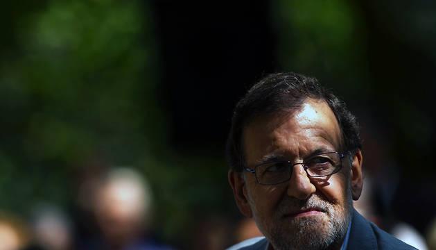 Rajoy, durante el acto de partido en Cotobade (Pontevedra).