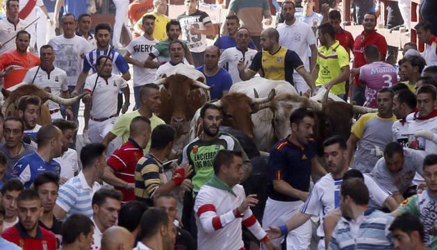 Cuatro heridos leves en el segundo encierro de San Sebastián de los Reyes