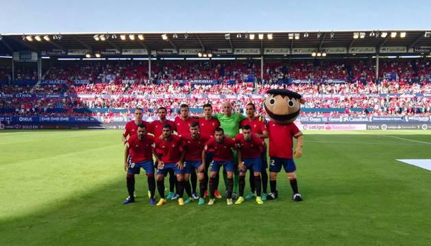 Alineación de Osasuna contra la Real Sociedad.