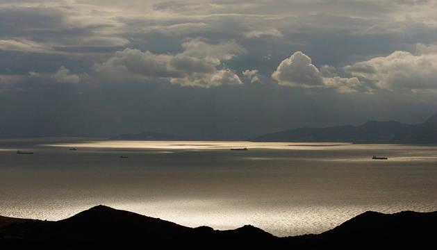 Vista del Estrecho de Gibraltar.