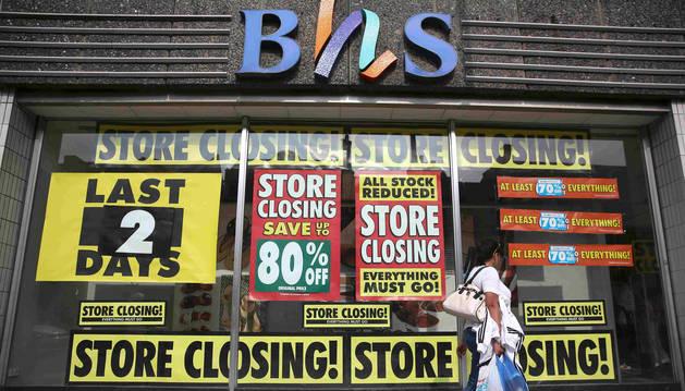 La cadena de almacenes británica BHS cierra sus puertas después de 88 años