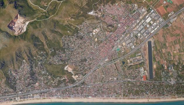 Imagen aérea de Castelldefels.