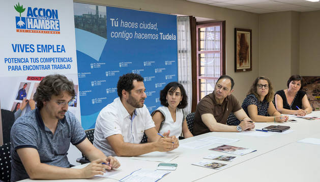 Presentación del programa 'Vives Emplea' en Tudela a principios de agosto.