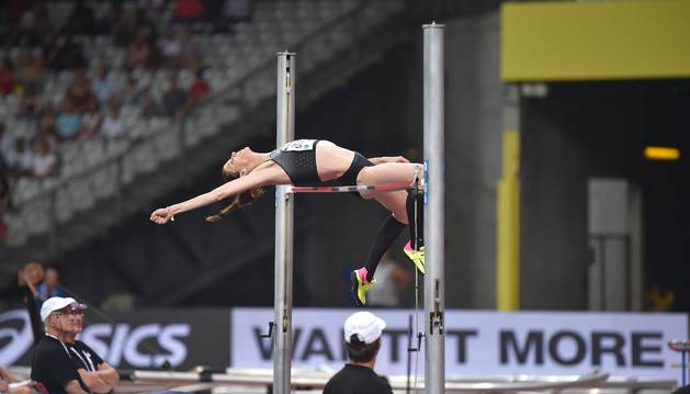 Ruth Beitia, en la Diamond League en París.