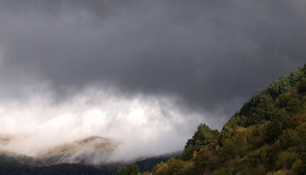 Cielos nublados sobre Ochagavía.