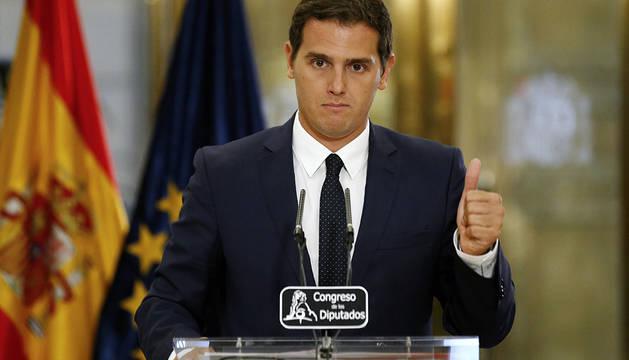 Rivera, durante su rueda de prensa.