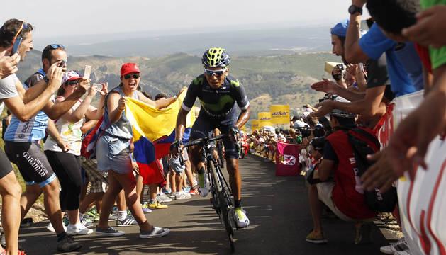 Nairo Quintana, durante una etapa de la Vuelta a España.
