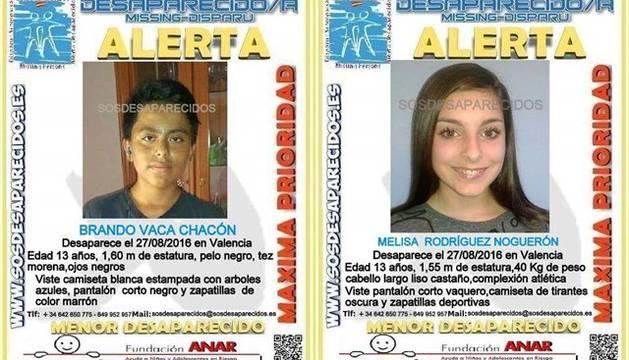 Buscan a dos menores desaparecidos juntos el sábado en Valencia