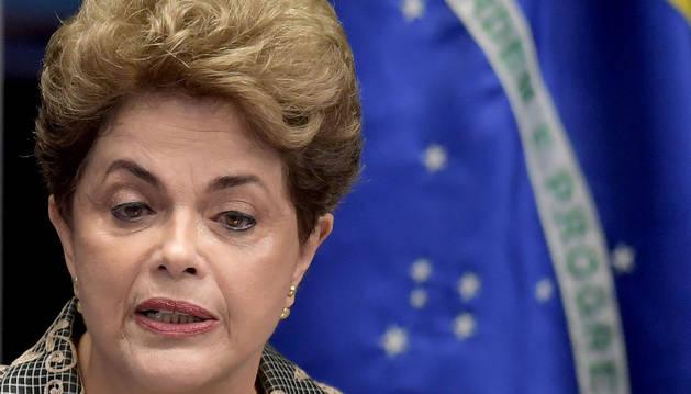 Rousseff, durante su comparecencia en el Senado.