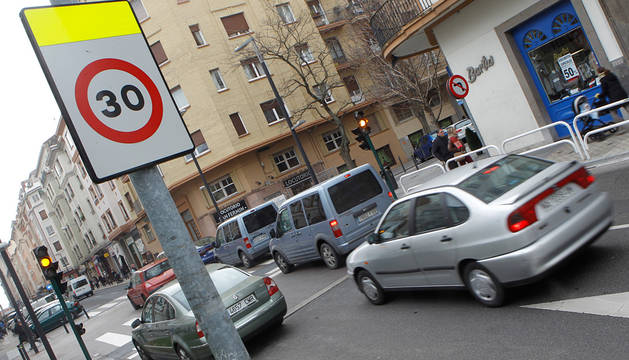 Una señal de tráfico.