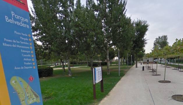 Parque Belverede, en Usera.