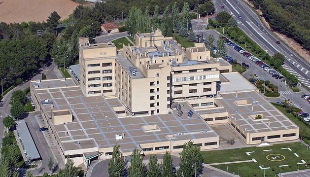 Imagen aérea del hospital Reina Sofía de Tudela.