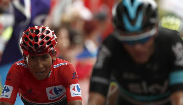 Quintana y Froome, en la Vuelta.