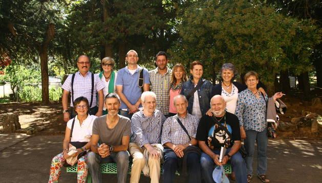 Algunos colaboradores voluntarios de Proyecto Hombre de Estella.