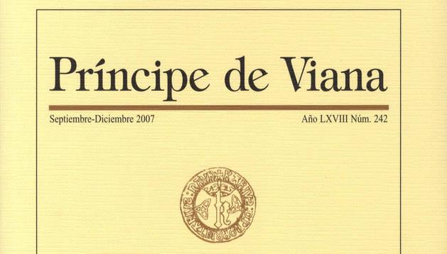 Portada de un número anterior de la revista 'Príncipe de Viana'.