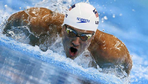 Imagen del nadador estadounidense Ryan Lochte, durante las pasadas Olimpiadas.