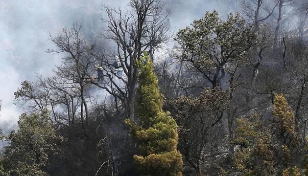 Incendio en Villava