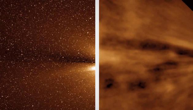 Imagen del viento solar facilitada por la NASA.