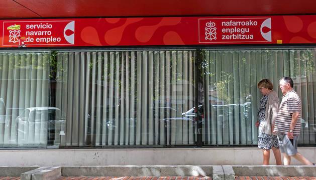 Una oficina de empleo en Estella.