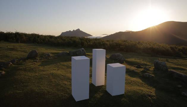 'Oianleku' obra de Juan Aizpitarte, del espacio Reflex de San Sebastián.