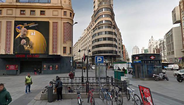 Imagen de la plaza Callao de Madrid.