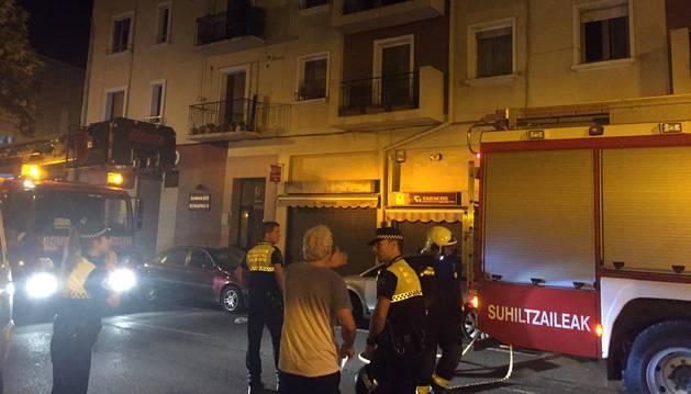 Incendio sin heridos en un piso de la Rochapea