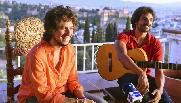 Juan Habichuela Nieto y José Enrique 'Kiki' Morente, descendientes de dos reconocidas sagas flamenca.