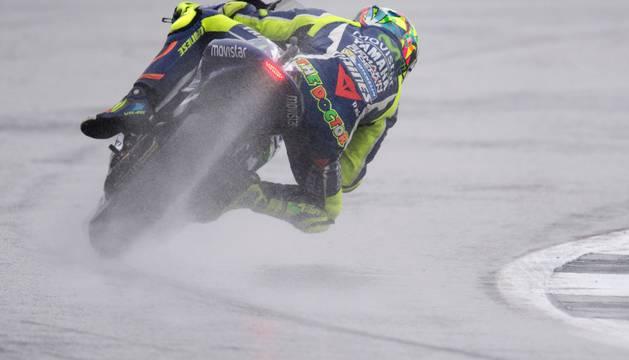 Valentino Rossi, en Silverstone.