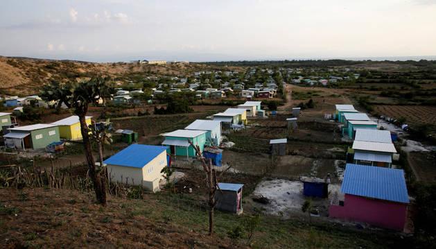 Un poblado de Haití.