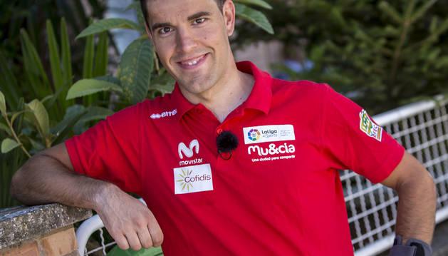 Eduardo Santas se ha preparado en Tarazona para sus primeros Juegos Paralímpicos.