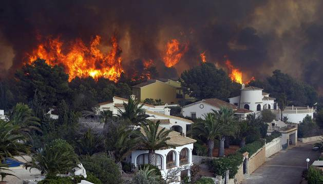 Incendio forestal en Alicante