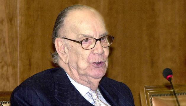 El premio Nobel Camilo José Cela en una entrevista en el último año de su vida.